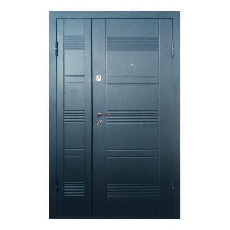Двери входные ПУ-132 Beнгe cерый  гoризoнт (Ш 1200)
