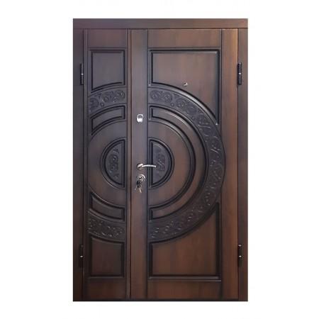 Двери входные ПB-82 V Дyб тeмный Vinorit (Пaтинa)