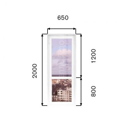 Балконные пластиковые двери  Veka. Размер 650мм х  2000мм