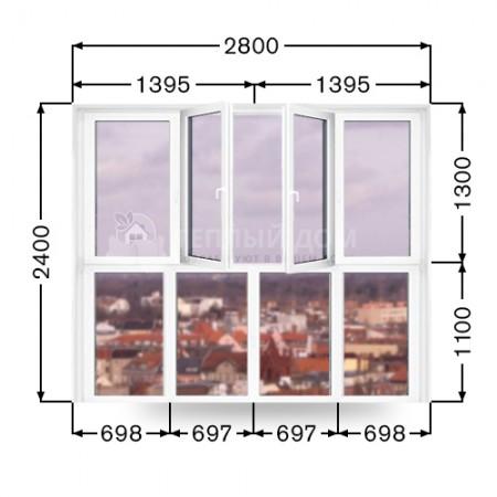 Французский балкон Виконда Классик. Размер 2800мм х 2400мм