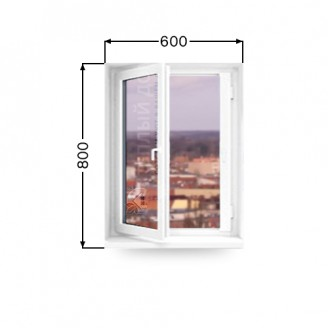 Окно поворотно- откидное REHAU. Размер 600мм х 800мм