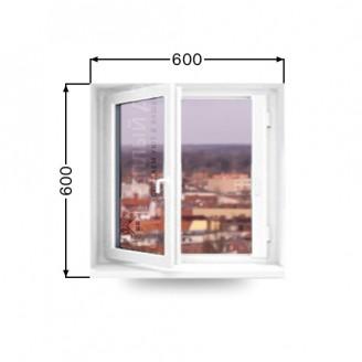 Окно поворотно-откидное Виконда классик. Размер 600мм х 600мм